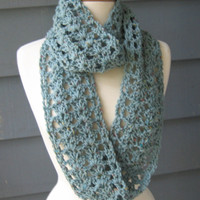 SHELLEY60 Crochet Infinity Scarf Cowl by ArtsyCrochet on Etsy