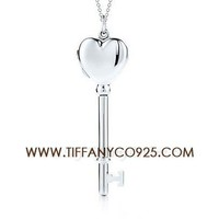 Shopping Cheap Tiffany Keys Heart Key Locket Silver Necklace At Tiffanyco925.com - Discount Tiffany Necklaces