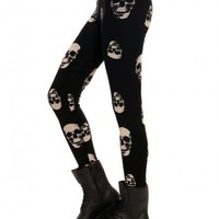 Skeleton Leggings - Bottoms - Clothes | GYPSY WARRIOR