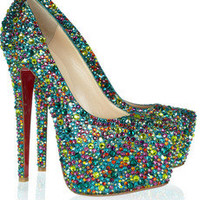 Christian Louboutin|Daffodile 160 crystal-embellished leather pumps|NET-A-PORTER.COM