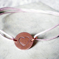 Heart Stamp Friendship Bracelet on Luulla