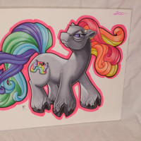 WRETCHED RAINBOW My Little Demon Original Art Marker Drawing Pony horse rainbow