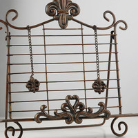 Fleur de Lis Metal Book Stand