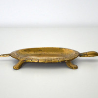 Brass soap holder turtle shaped by SCAVENGENIUS on Etsy