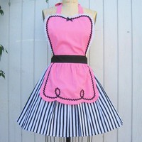 retro apron 50s DINER WAITRESS ice cream by loverdoversclothing