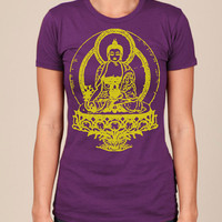 Womens BUDDHA T Shirt american apparel s m l xl by happyfamily