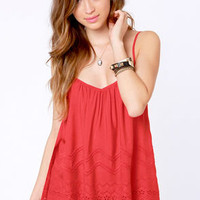 Billabong Livin' Free Red Tank Top