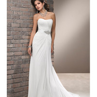 Maggie Sottero Spring 2013 - Carlene Ivory Ruched Chiffon Wedding Dress - Unique Vintage - Prom dresses, retro dresses, retro swimsuits.