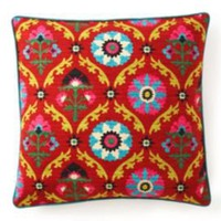 "One Kings Lane - Jiti - Frida 20"" x 20"" Pillow, Red"