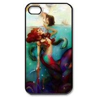 Custombox The Little Mermaid iphone 4/4s Case Plastic Hard Phone case-iPhone 4-DF00327