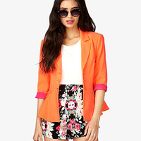 Three-Button Peplum Blazer | FOREVER 21 - 2021839315
