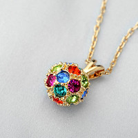 Color Diamonds spherical pendant necklace