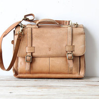 Leather Frye Messenger Bag by OceanSwept on Etsy
