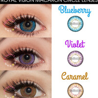 Royal Vision Macaron Puffy 3 Tones circle lens - big eye contact lens | EyeCandy's