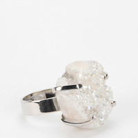 White Crystal Ring
