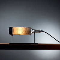 Patriot: Reclaimed Wine Bottle Table Lamp with Industrial Feel by John Meng on Etsy, Perfect as Wine Lighting