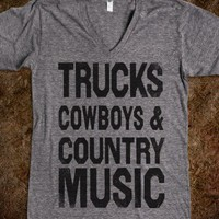 Trucks Cowboys Country Music (Vneck)
