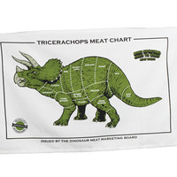 TRICERACHOPS MEAT CHART TEA TOWEL