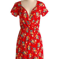 Flowers of Romance Dress | Mod Retro Vintage Printed Dresses | ModCloth.com