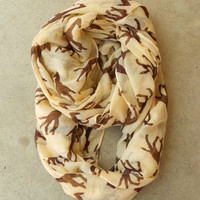 Galloping Giraffe Infinity Scarf [3805] - $21.00 : Vintage Inspired Clothing &amp; Affordable Fall Frocks, deloom | Modern. Vintage. Crafted.