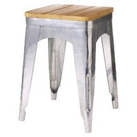 Threshold Accent Stool with Wood Seat