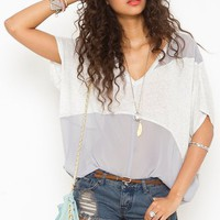 Haze Chiffon Tee in What&#x27;s New at Nasty Gal