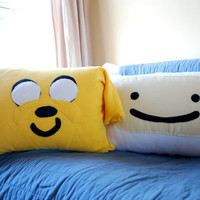 Two Huge ADVENTURE TIME Pillows - Finn and Jake, and all of your favorite characters