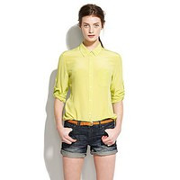 Soft Silk Boyshirt - sale - Women's SHIRTS & TOPS - Madewell