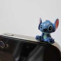 SALE 80-20%OFF: Cute Stitch from Lilo & Stitch // iPhone Plug . Phone Charm . Phone Plug . Dust Plug - Hand Painted, Stitch . Disney