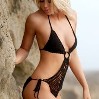Marliese Crochet Monokini with Ring