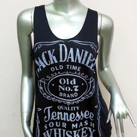 Jack Daniel&#x27;s Tennessee Whiskey Old Time T-Shirt Women shirt Tank Top vest sleeveless shirt screen Rock Punk classic Black S27 Size S M
