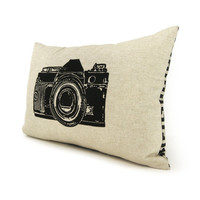 Camera pillow Decorative throw pillow lumbar by ClassicByNature