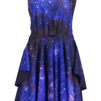Amazon.com: Romwe Women's Galaxy Printed Backless Shift Dress: Clothing