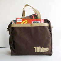 Vintage 1980s Channel 13 Thirteen (PBS New York) Zippered Carry-All Tote  Wary Meyers