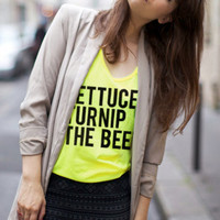 NEON lettuce turnip the beet - unisex sizes - yellow tank top
