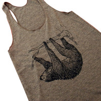 SLOTH Tank Top  American Apparel TriBlend Tank  by friendlyoak