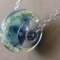 Glass memorial bead necklace. Your loved one or pets ashes in boro glass. Sterling silver custom heirloom keepsake. USA artisan handmade.