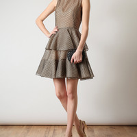 Browns fashion & designer clothes & clothing | ALEXANDER MCQUEEN | Silk and Lace Dress