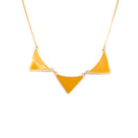 Mustard Triangle Trio Necklace - Furor Moda - Tops - Dresses - Jackets - Vintage