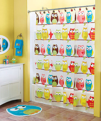 Perched owl bath collection kids bathroom from cornerstone for Kids bathroom accessories