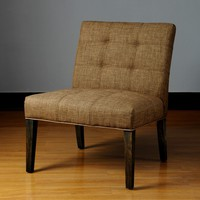 Whitney Toast Armless Chair  | Overstock.com