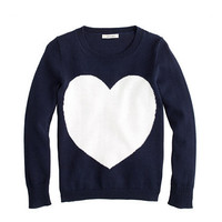 Girls' heart sweater - cotton - Girl's sweaters - J.Crew