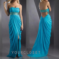 Elegant beading chiffon prom dress