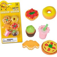 JUNK FOOD ERASER SET