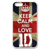 Amazon.com: Apple iPhone 5 Keep Calm and Love 1D One Direction SLIM WHITE Sides Case Cover Skin Mobile Phone Accessory Faceplate Retro Vintage: Cell Phones & Accessories