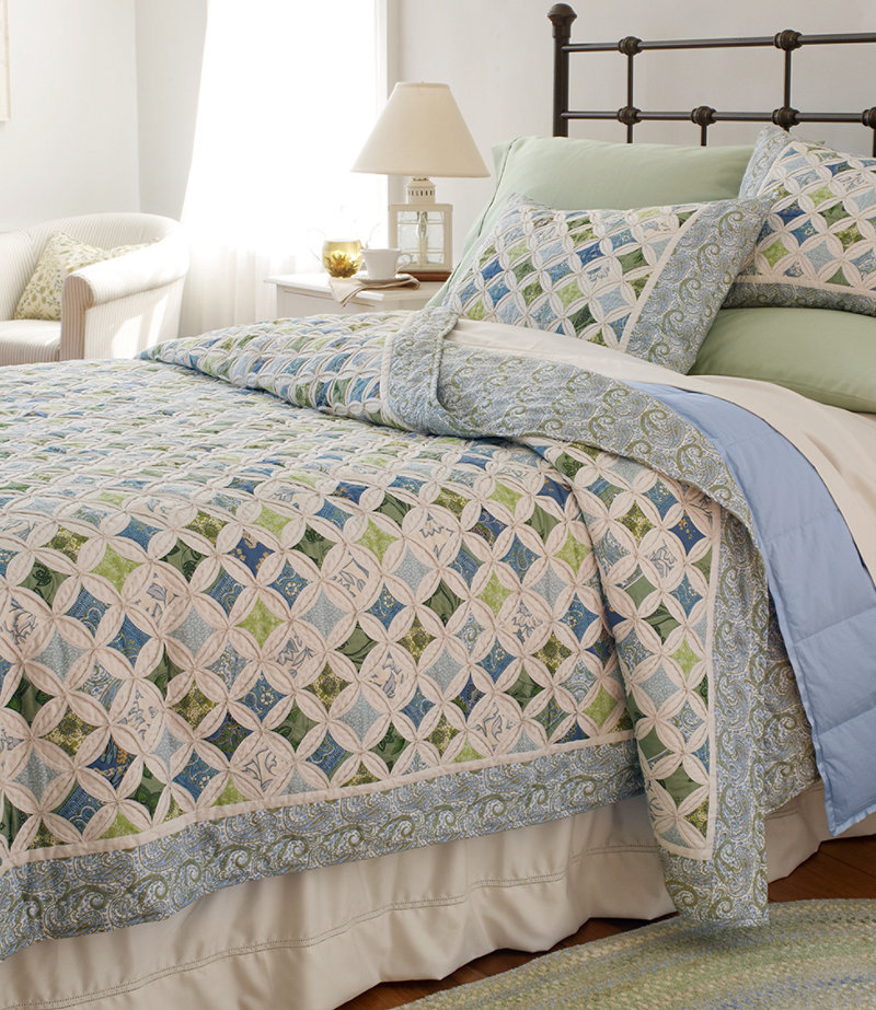 Pincushion quilt bedding free shipping from l l bean inc for Bed quilting designs