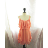 Spring Coral Romantic Soft Flowy Ethereal by RiverOfRomansk
