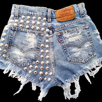 Electra short studded cut off shorts