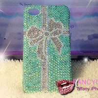 iphone 5 case, iphone 4 case, iphone 5 bow case, bling iphone 4s case, tiffany iphone 4 case, christmas bling iphone 5 case cover