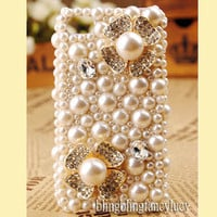 iPhone 4 Case, iPhone 5 case, Pearl iPhone 4 Case, Pearl iphone 5 case Flower iPhone 4 case, Best iphone 4 skin case, Crystal iphone 4 case